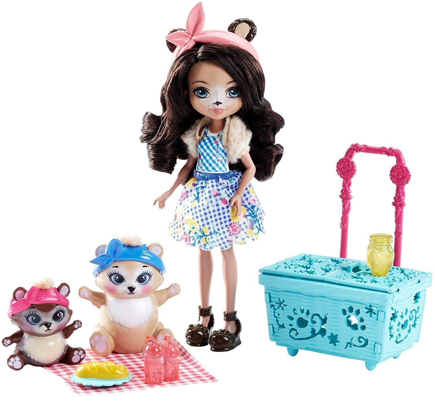 Enchantimals Paws For A Picnic Playset With Bren Bear Doll